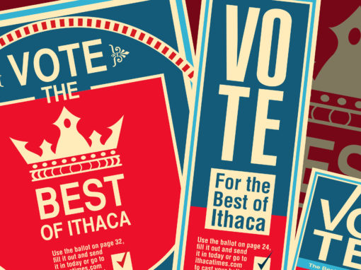 Design of Best of Ithaca Campaign for Ithaca Times Newspaper