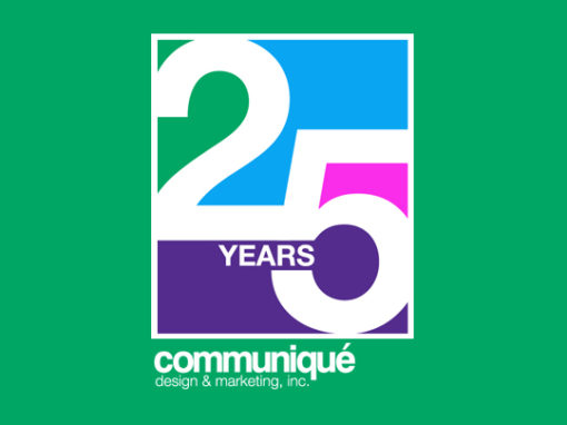 Communique 25th Anniversary Logo Design