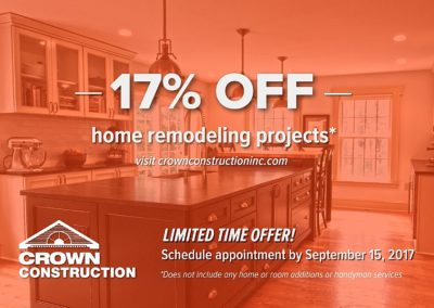 Marketing Promotional Campaign Advertising for Crown Construction Inc